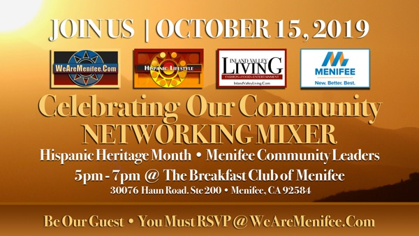 EVENT | Celebrating Our Community Networking Mixer – October 15, 2019