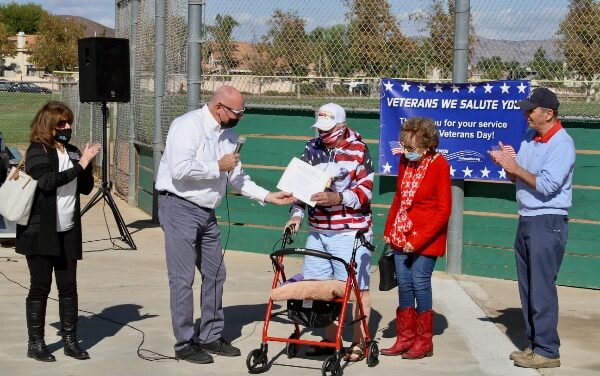 Field Dedication | Ed Hustead Commissioner Menifee Senior Softball League