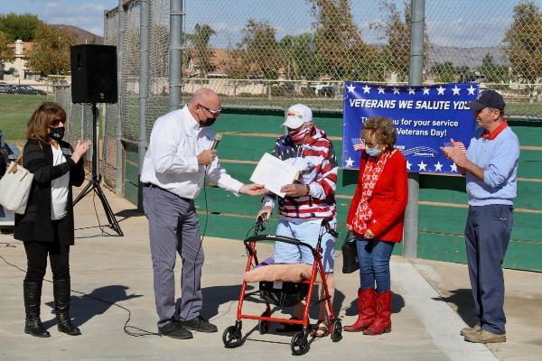 Field Dedication | Ed Hustead Commissioner Menifee Senior Softball League